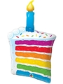 Rainbow Cake w/Candle Balloon Super Shape