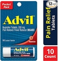 Advil Tube of 10 Adult Dosage