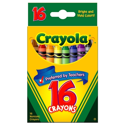 Crayola Crayons, package of 16