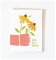 Handheld Flowers You Are Loved Card