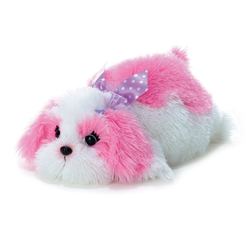 Maddy Pink & White Dog 12""